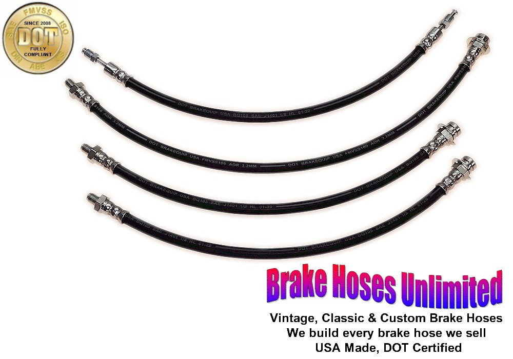 brake hose set lincoln cosmopolitan 1952 1953 without. Black Bedroom Furniture Sets. Home Design Ideas