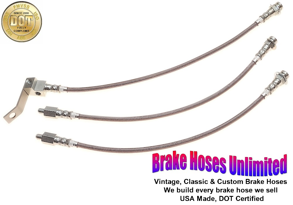 stainless brake hose set lincoln continental 1964 late ebay. Black Bedroom Furniture Sets. Home Design Ideas