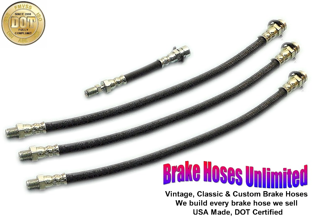 BRAKE HOSE SET Plymouth Belvedere 1957 with Dual exhaust