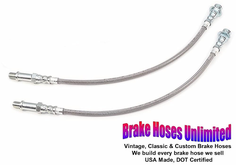 1970-72 Dodge Challenger Brake Hose Kit Braided Stainless HSK0038SS