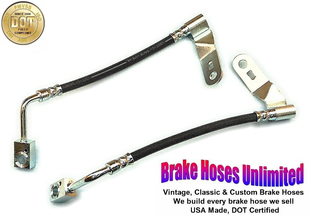 REAR STAINLESS BRAKE HOSE Ford Mustang 1974 1975